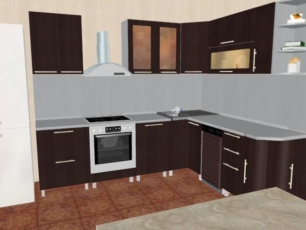 Кухня анна венге столплит